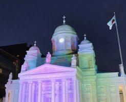 ヘルシンキ大聖堂雪像